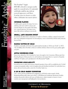 Image Frostbite Apple factsheet.